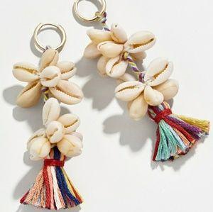 BaubleBar Seashell and Tassel Earrings